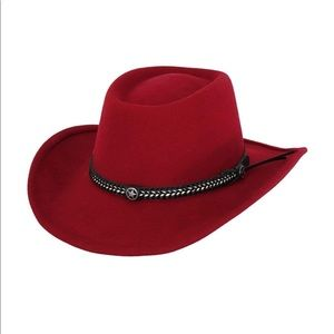 Outback Women's Wool Tassy Crusher Red Hat
